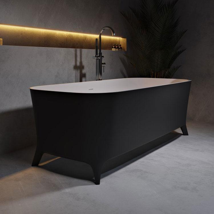 Modello di vasca da bagno nera n.30