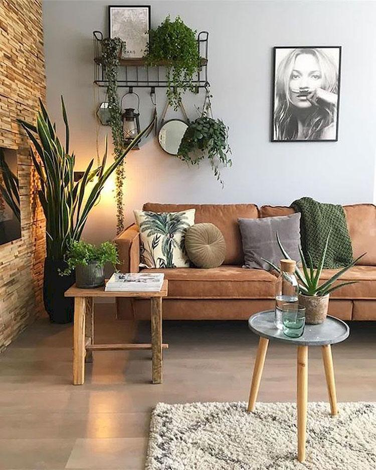 Idee per arredare con piante da soggiorno n.26
