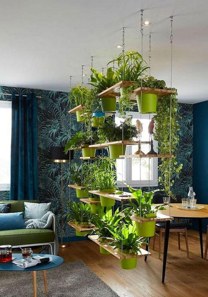 Idee per arredare con piante da soggiorno n.27
