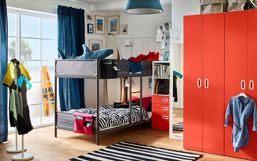 Idee per camerette salvaspazio Ikea n.02