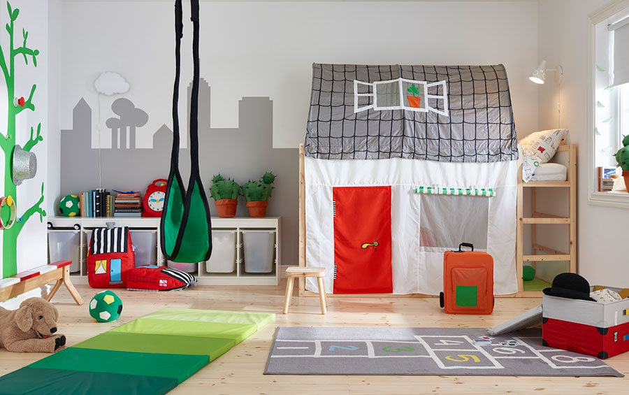 Idee per camerette salvaspazio Ikea n.06