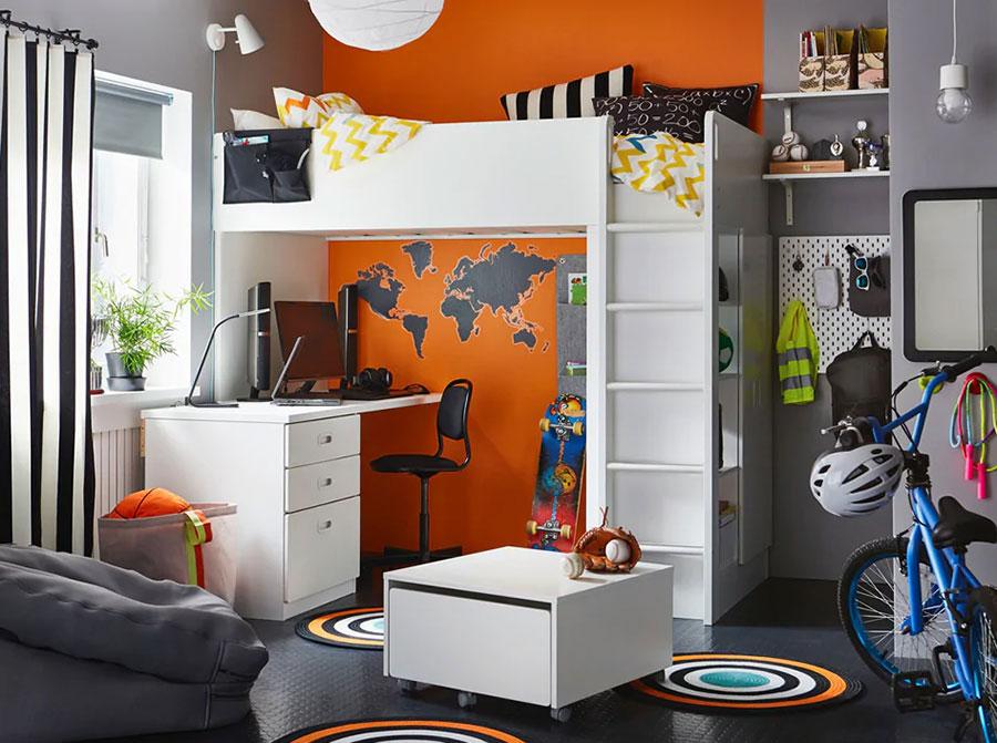 Idee per camerette salvaspazio Ikea n.08