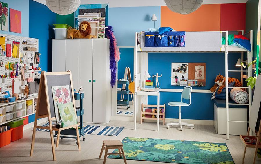 Idee per camerette salvaspazio Ikea n.09