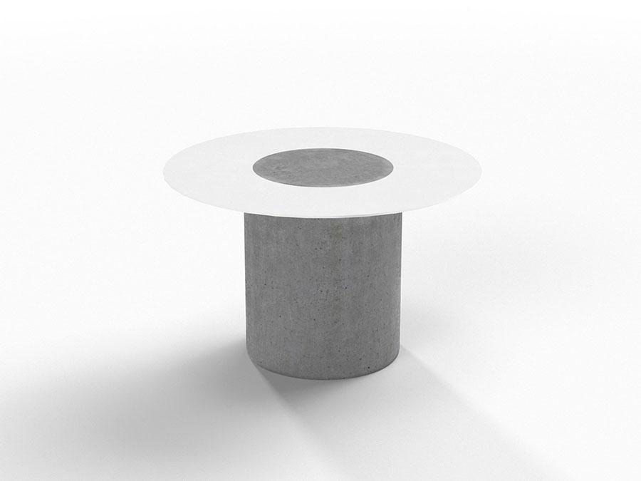 Modello di comodino rotondo dal design moderno n.10
