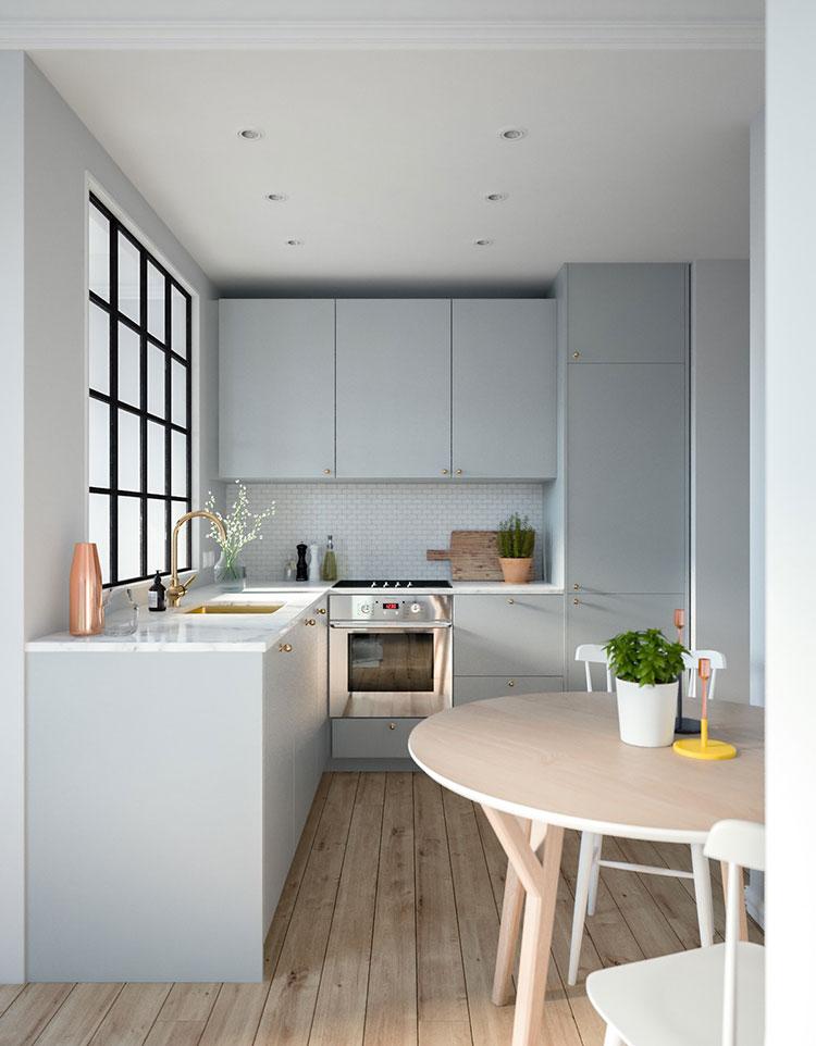 Idee per una cucina ad angolo con finestra n.05