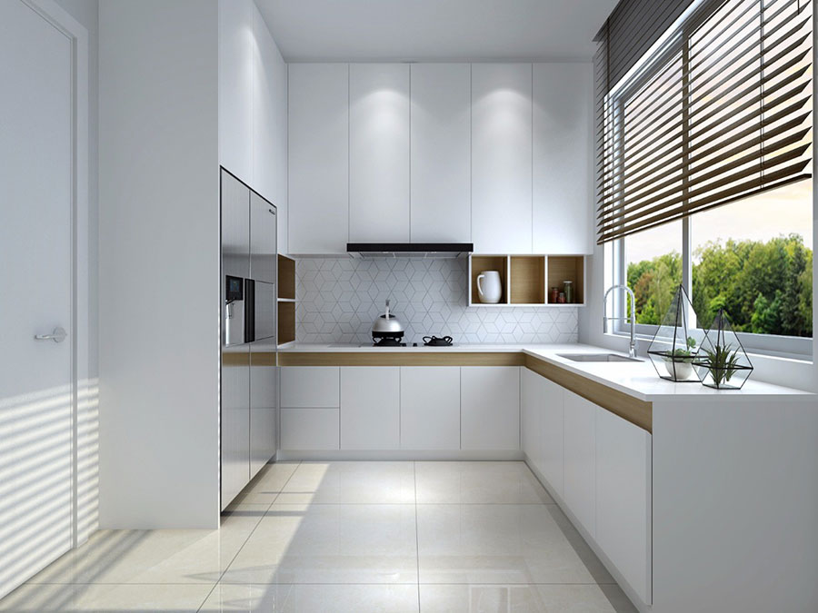 Idee per una cucina con finestra sul lavello n.02