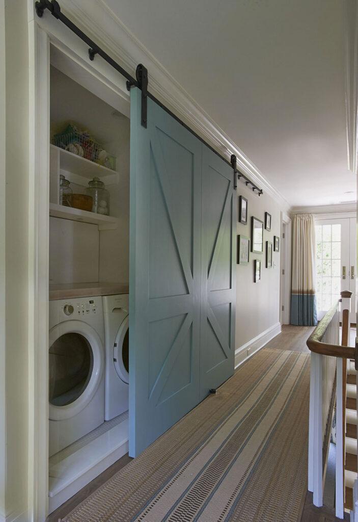 Idee per organizzare una lavanderia piccola n.01