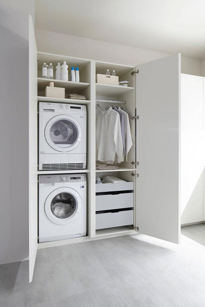 Idee per organizzare una lavanderia piccola n.02