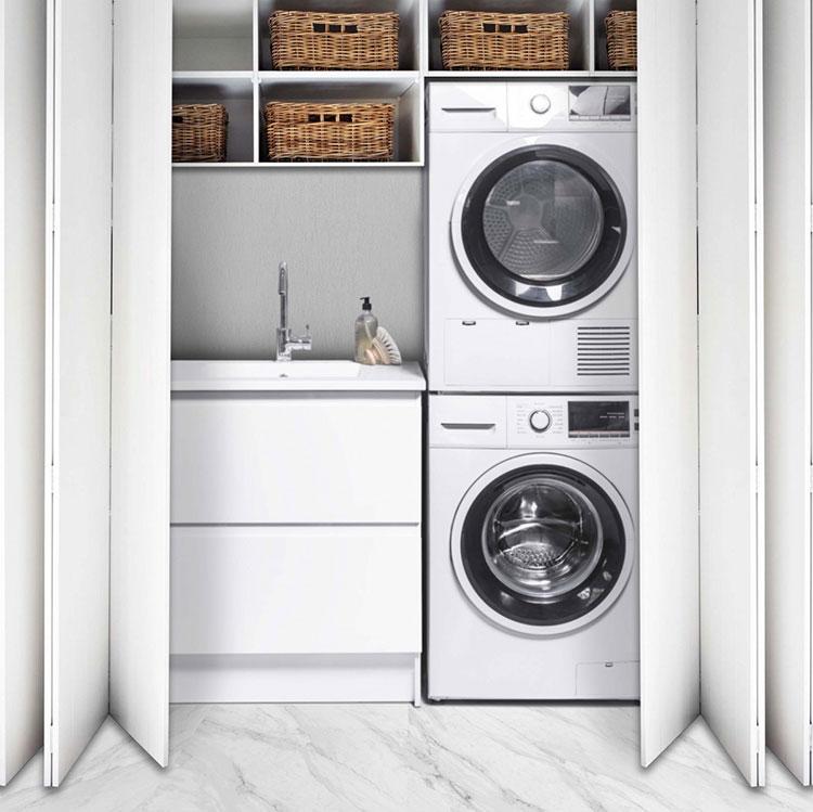 Idee per organizzare una lavanderia piccola n.03