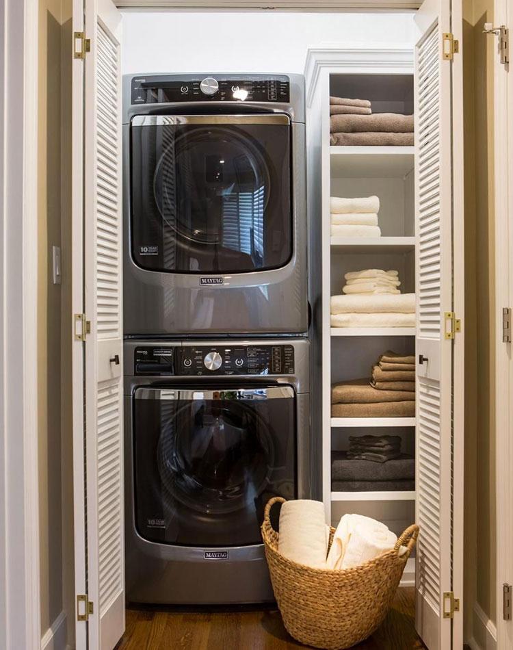 Idee per organizzare una lavanderia piccola n.05