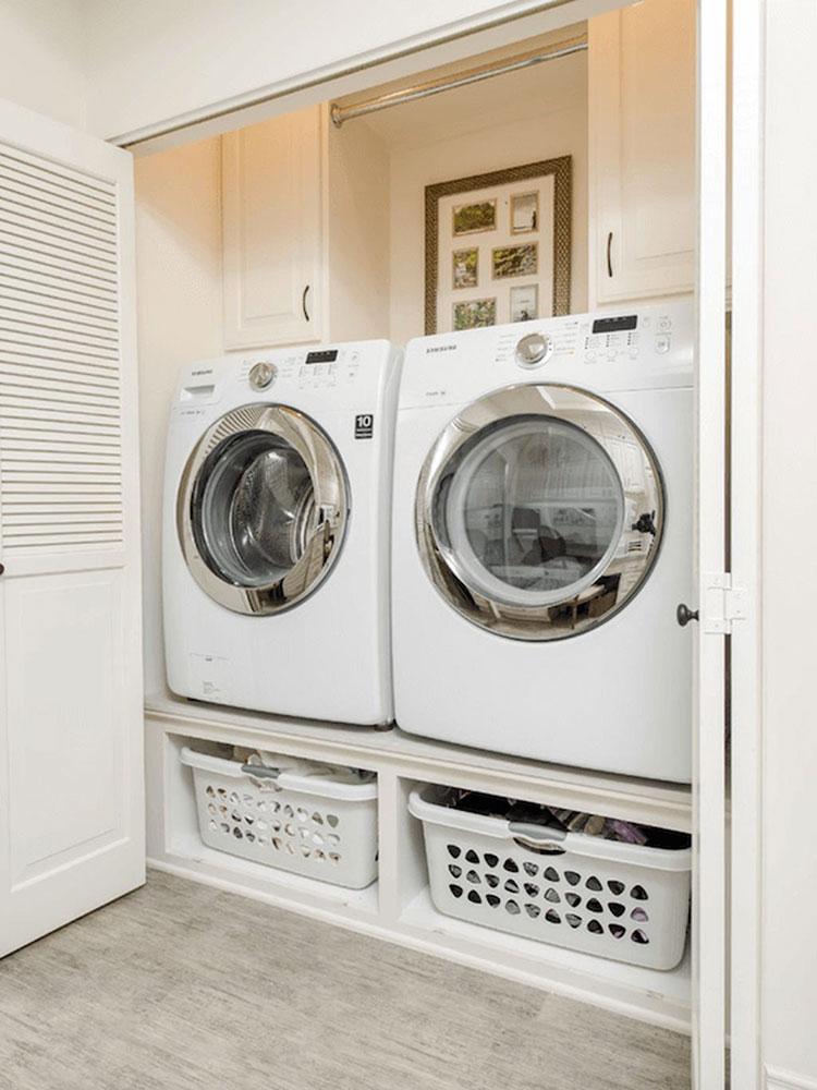 Idee per organizzare una lavanderia piccola n.06