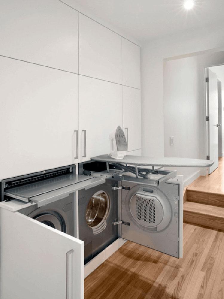 Idee per organizzare una lavanderia piccola n.07