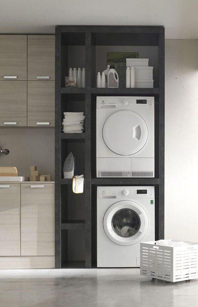 Idee per organizzare una lavanderia piccola n.08