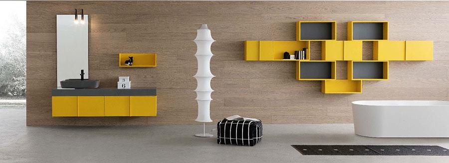 Modello di mobile bagno giallo n.01