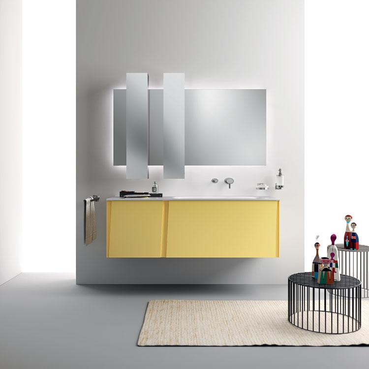 Modello di mobile bagno giallo n.02