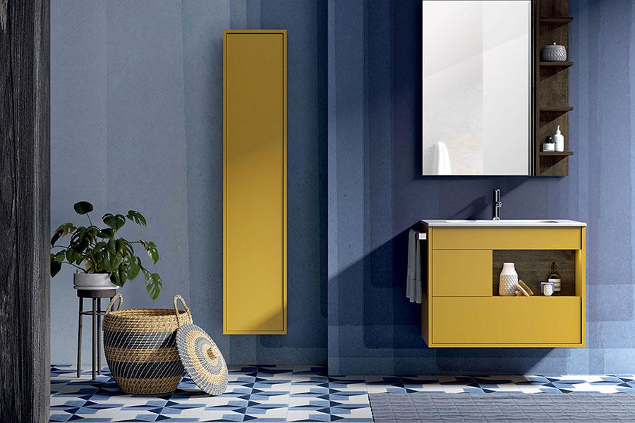 Modello di mobile bagno giallo n.03