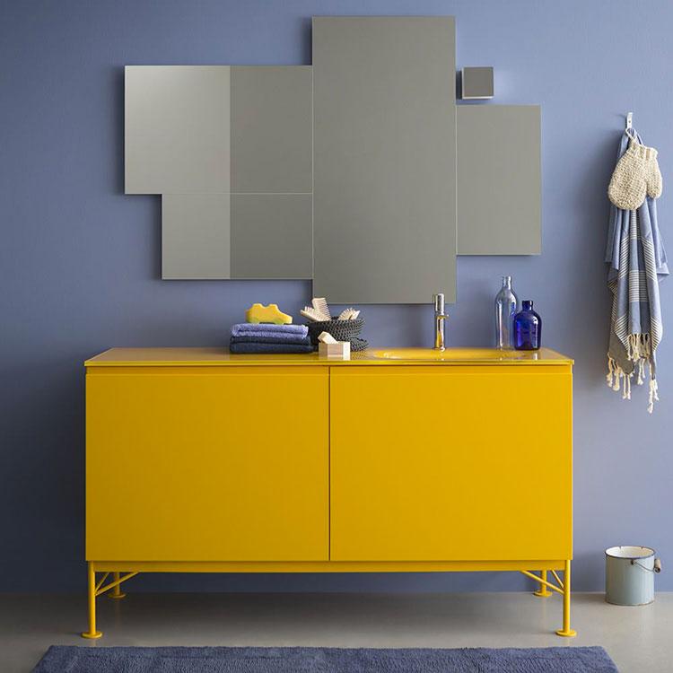 Modello di mobile bagno giallo n.04