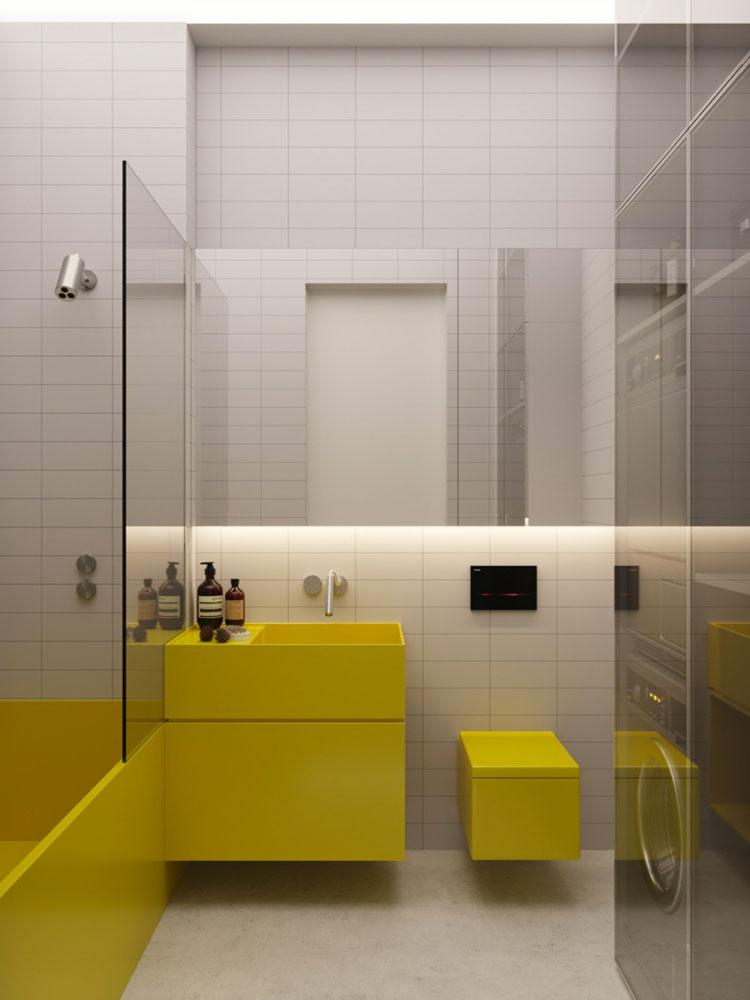 Modello di mobile bagno giallo n.06