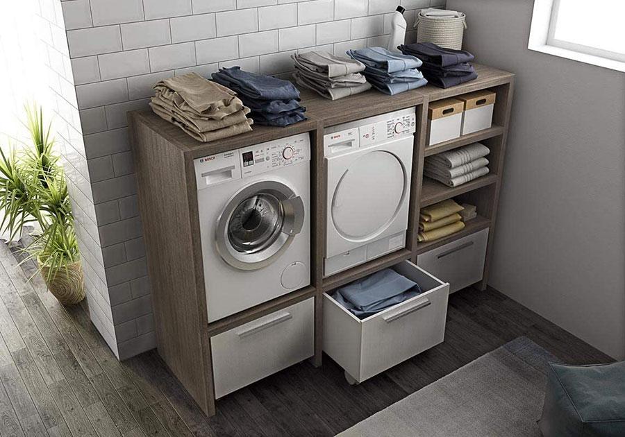Mobili salvaspazio per una lavanderia piccola 1