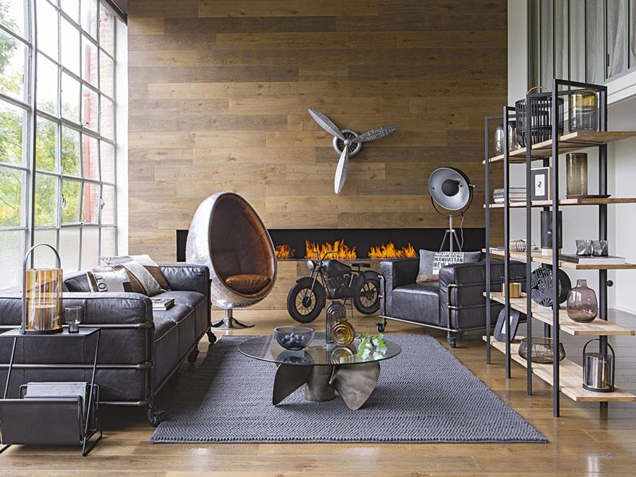 Idee mobili per soggiorno in stile industriale n. 01