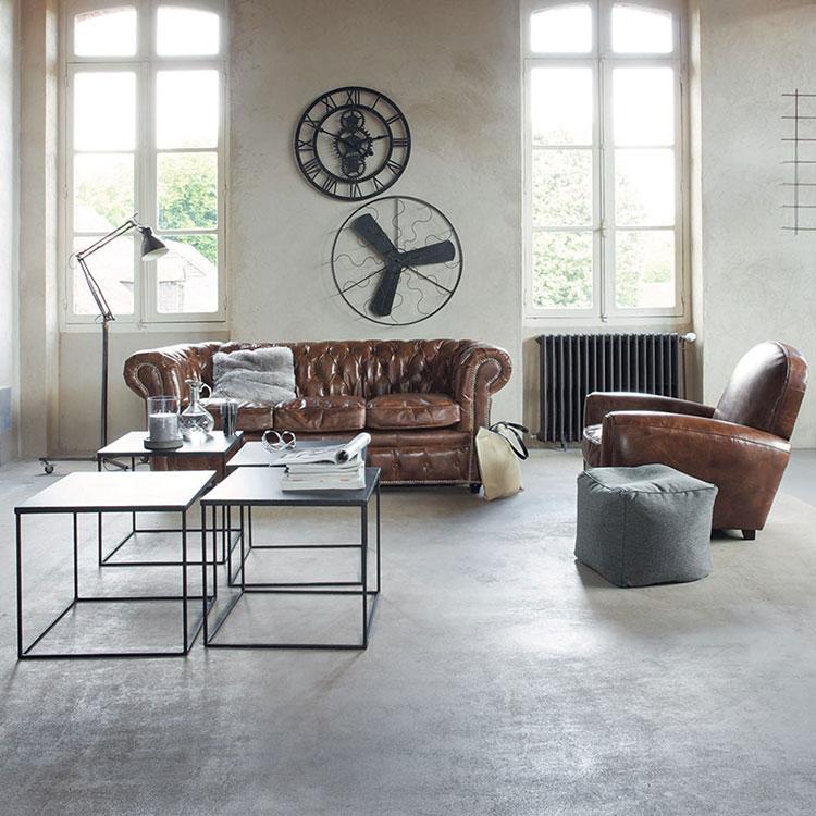 Idee mobili per soggiorno in stile industriale n. 02