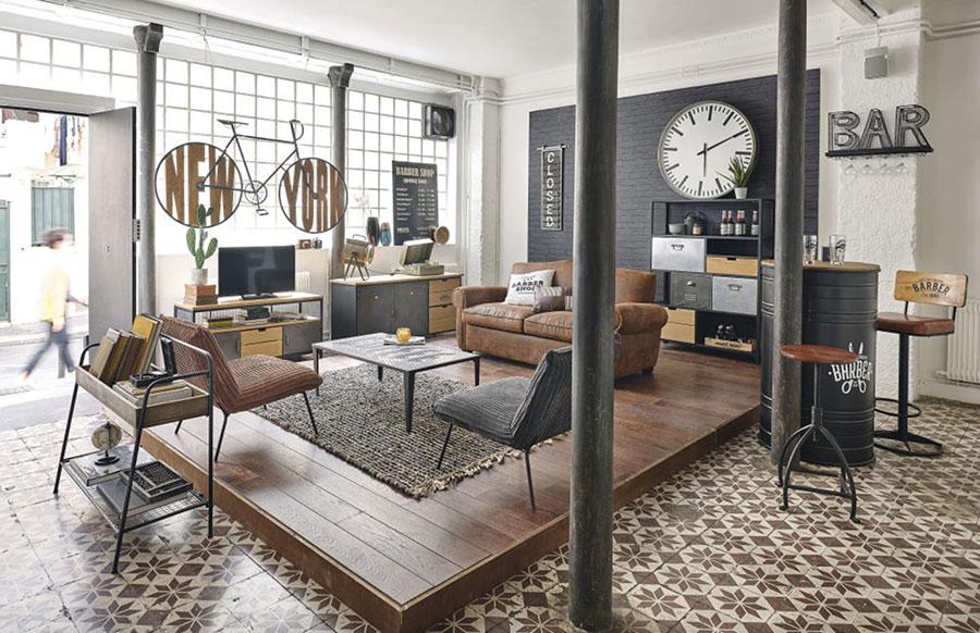 Idee mobili per soggiorno in stile industriale n. 03