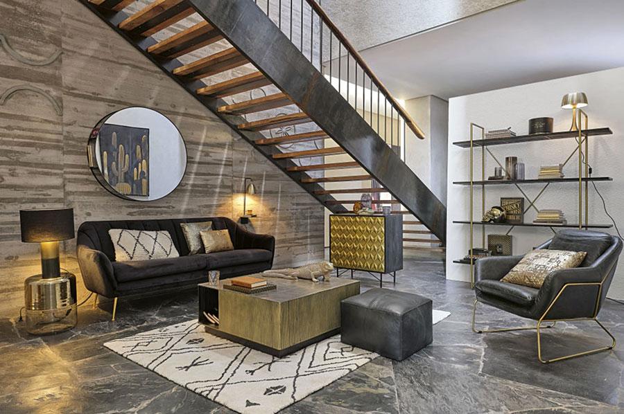 Idee mobili per soggiorno in stile industriale n. 04