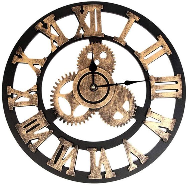 Orologio da parete stile industriale n.01