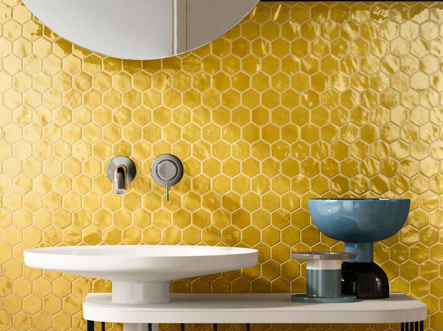 Rivestimenti per bagno giallo 02