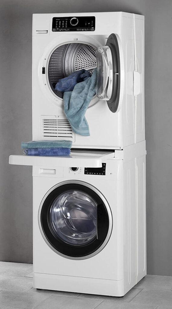 Piano estraibile tra lavatrice e asciugatrice