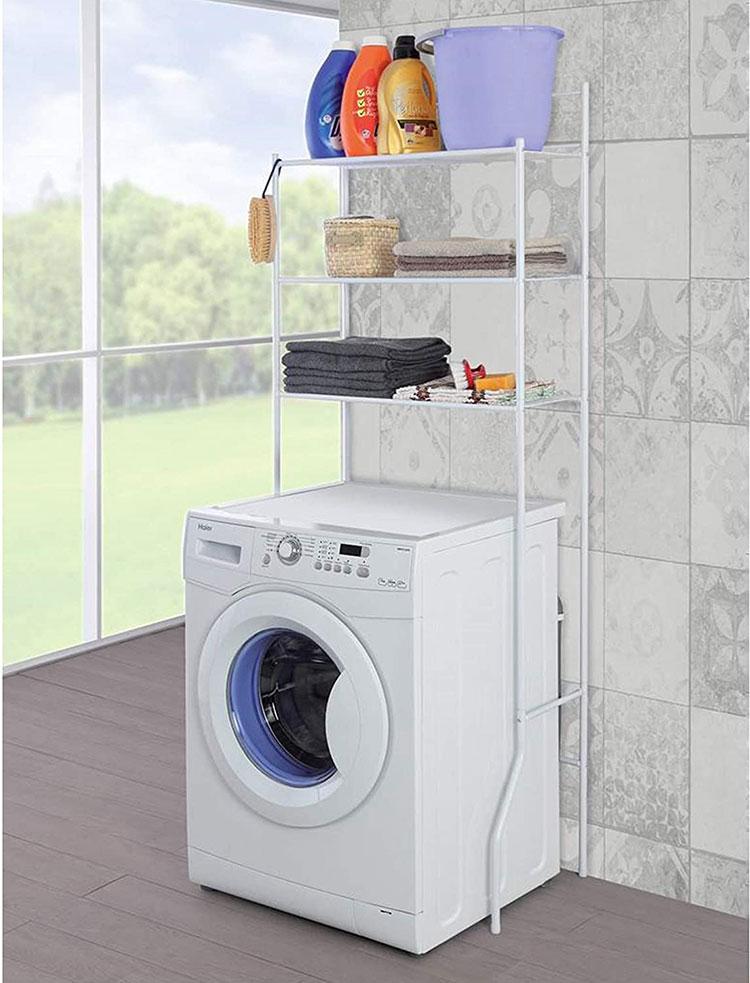 Scaffale salvaspazio per lavanderia piccola
