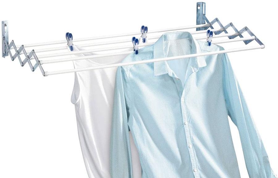 Stendibiancheria a scomparsa per lavanderia piccola 3