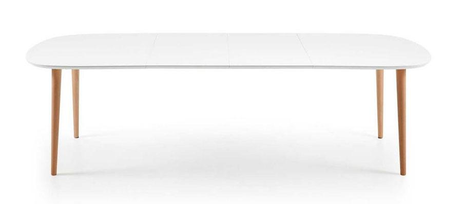 Modello di tavolo rotondo allungabile 12 posti 02