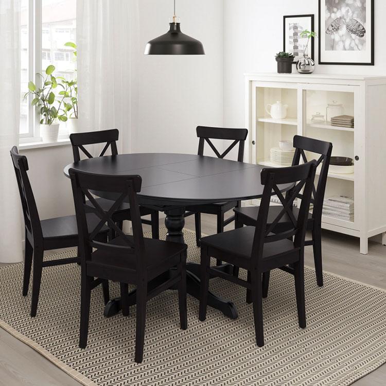 Modello di tavolo rotondo allungabile Ikea