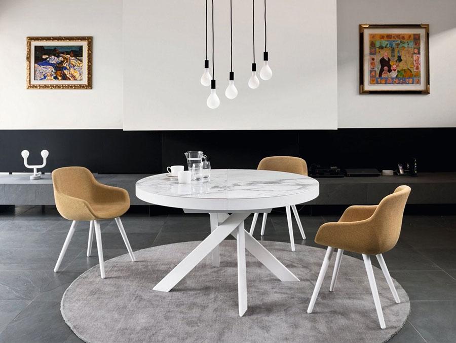 Modello di tavolo rotondo allungabile moderno n.01