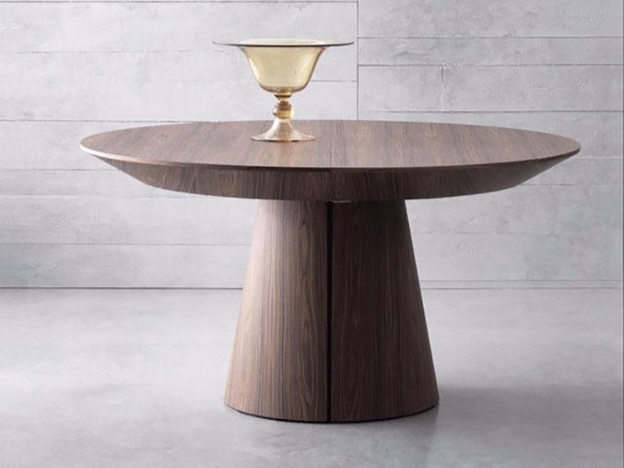Modello di tavolo rotondo allungabile moderno n.02