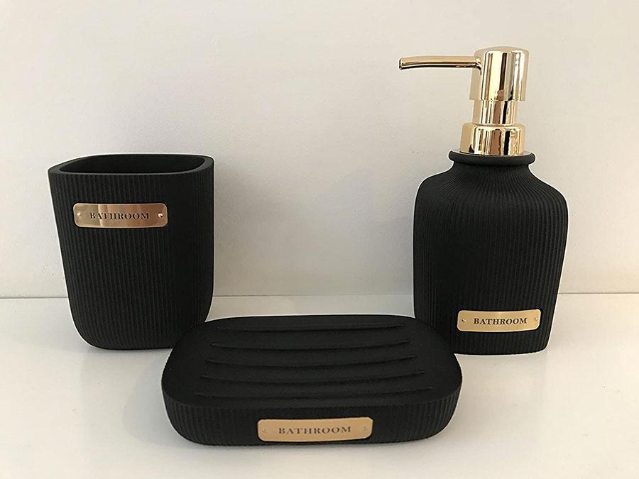 Idee accessori per bagno nero n.01