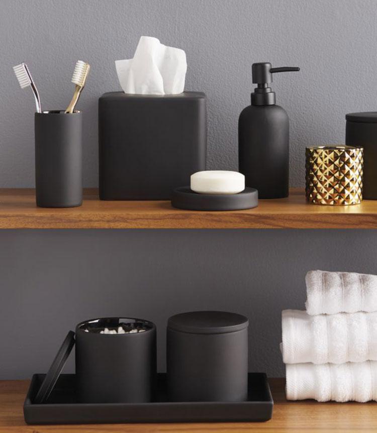 Idee accessori per bagno nero n.02