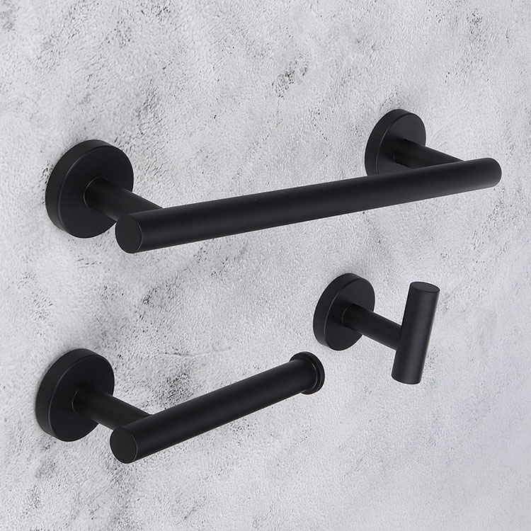 Idee accessori per bagno nero n.03
