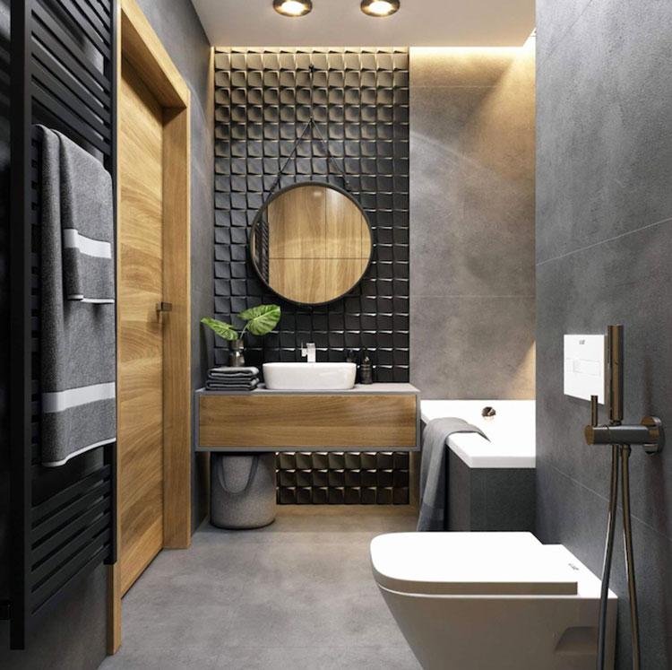 Idee per bagno nero e grigio n.03