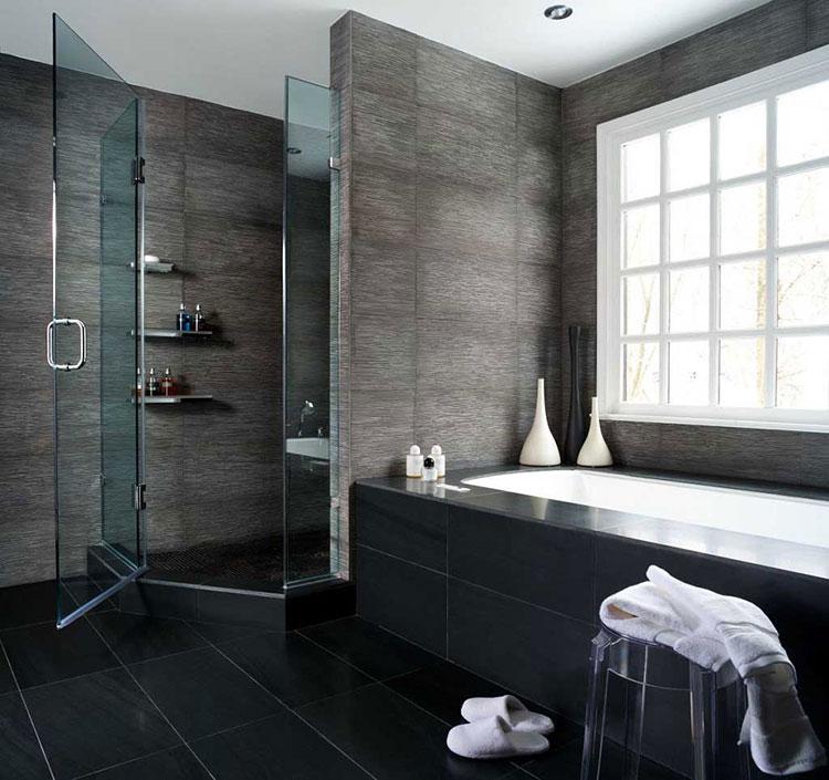 Idee per bagno nero e grigio n.04