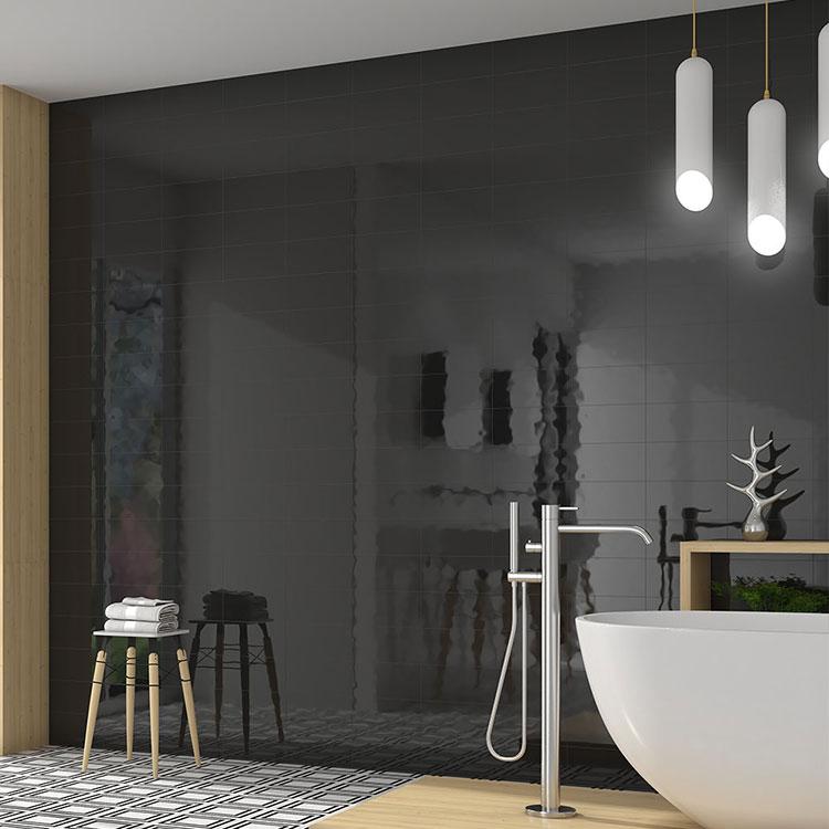 Idee per bagno nero lucido n.01