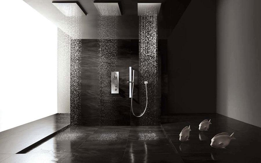 Idee per bagno nero lucido n.02
