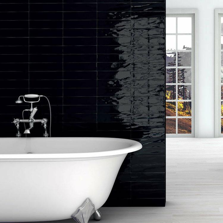 Idee per bagno nero lucido n.05