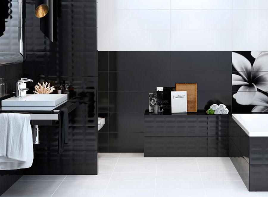 Idee per bagno nero lucido n.06