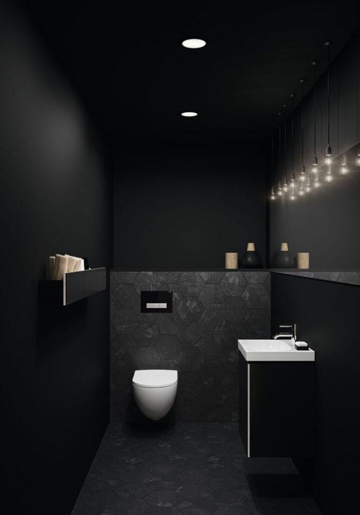 Idee per bagno nero opaco n.02