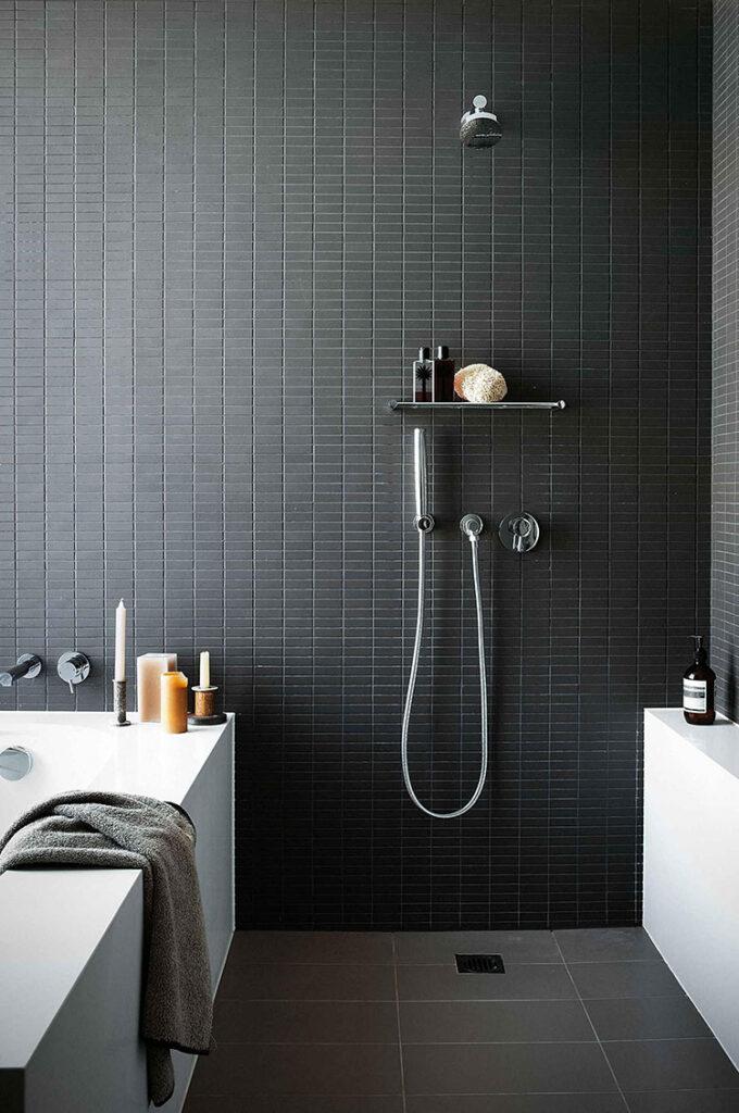 Idee per bagno nero opaco n.03
