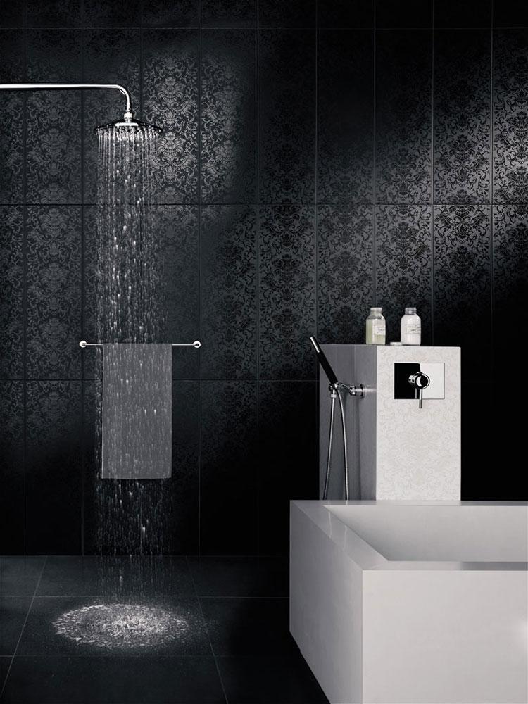 Idee per bagno nero opaco n.04