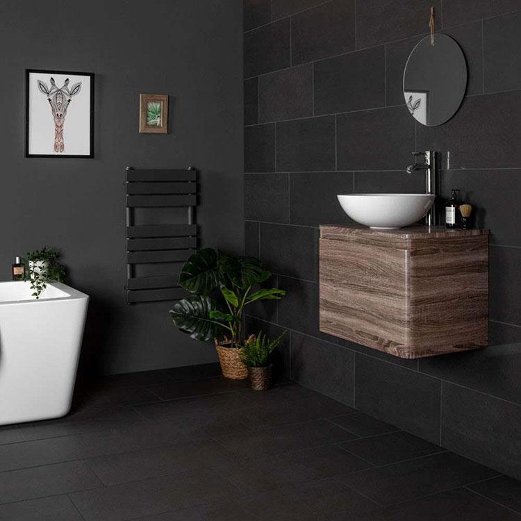 Idee per bagno nero opaco n.05