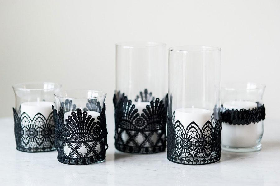 Idea per bicchieri portacandele fai da te n.04